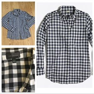 The Limited Black & white checked shirt